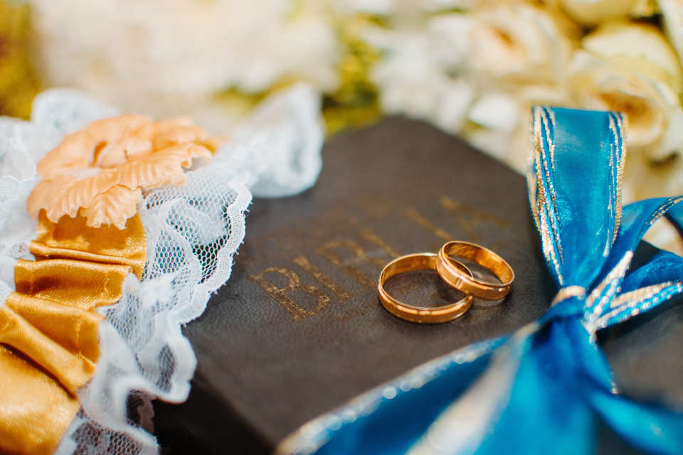 The bride's wedding ring is generally more expensive than the groom's