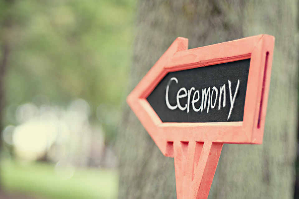 A break spanning across 60-90 minutes is considered to be normal between a wedding ceremony and a reception