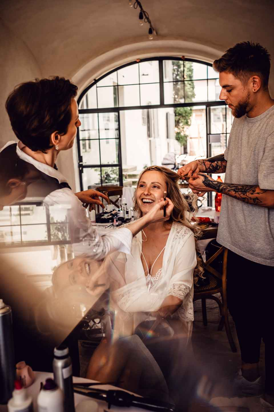 As a general rule, it's the bride who is supposed to pay for the bridesmaids hair and makeup