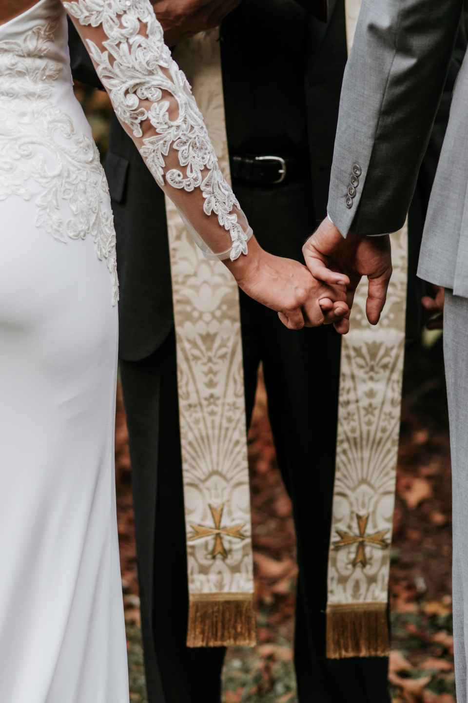 The Liturgy of the Word consists of a bunch of readings that are recited by the family members of the couple or the priest himself